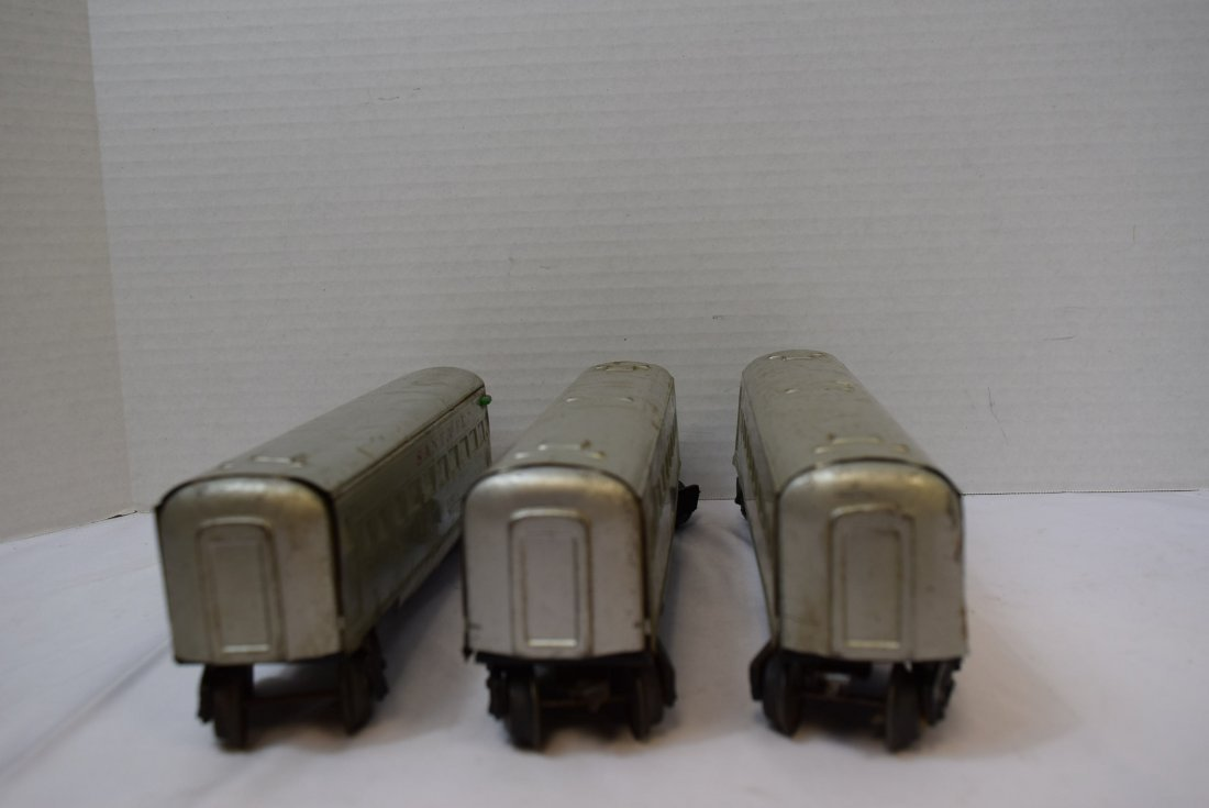 3 MARX SANTA FE PASSENGER CARS - 5