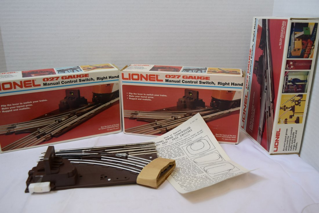 3 LIONEL MANUAL CONTROL SWITCHES; RIGHT HAND - 2