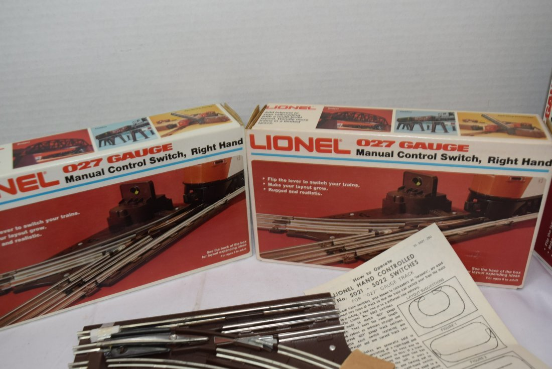 3 LIONEL MANUAL CONTROL SWITCHES; RIGHT HAND - 4