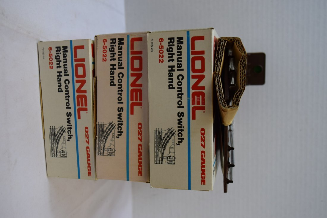 3 LIONEL MANUAL CONTROL SWITCHES; RIGHT HAND - 6