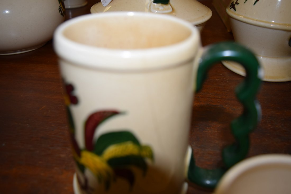 CALIFORNIA POPPYTRAIL GREEN ROOSTER MUGS; COFFEE C - 3