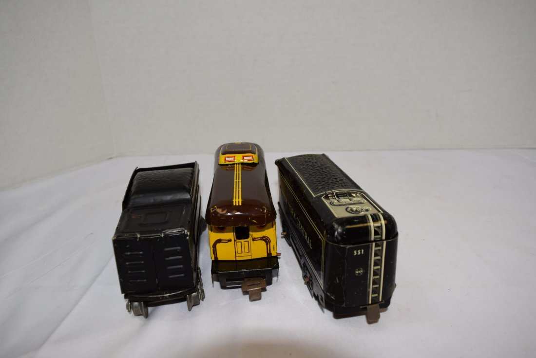 10 PC MARX LITHO TIN ROLLING CARS - 10
