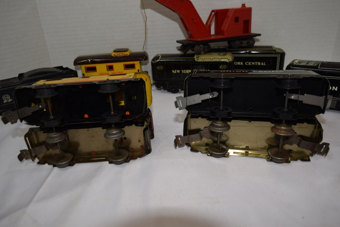 10 PC MARX LITHO TIN ROLLING CARS - 5