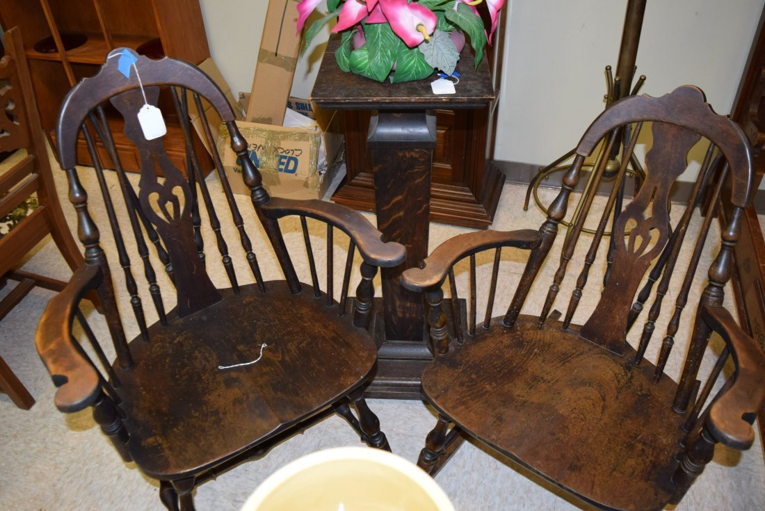 TWIN ANTIQUE CHAIR AND ROCKER