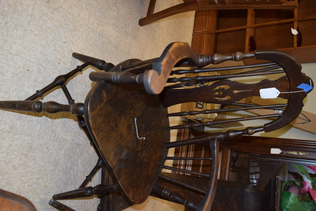 TWIN ANTIQUE CHAIR AND ROCKER - 2