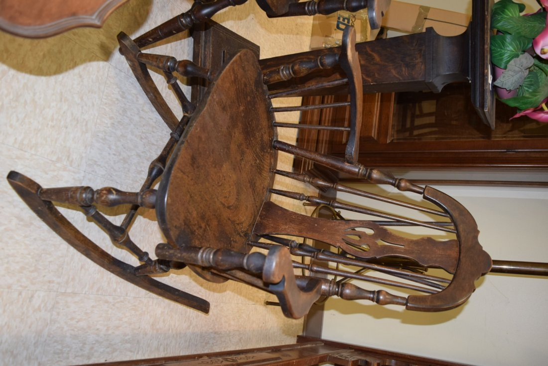 TWIN ANTIQUE CHAIR AND ROCKER - 3
