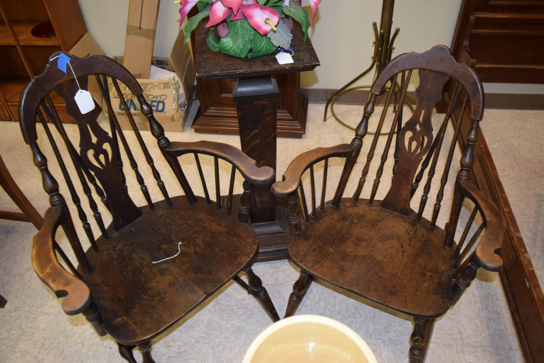 TWIN ANTIQUE CHAIR AND ROCKER - 4