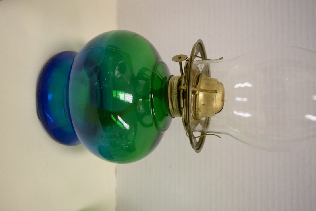 OIL LAMPS AND ITALIAN WINE DECANTER - 3
