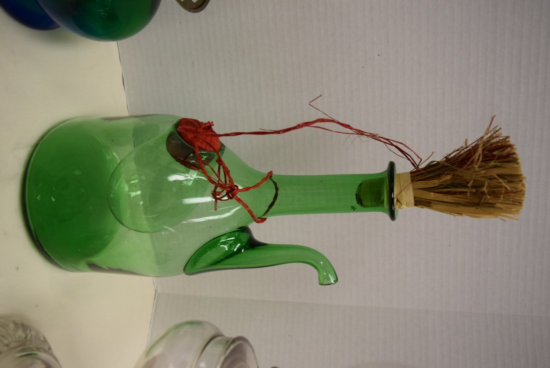 OIL LAMPS AND ITALIAN WINE DECANTER - 4