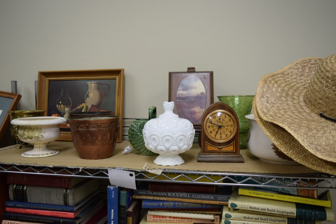 VARIOUS ARTWORK AND POTTERY
