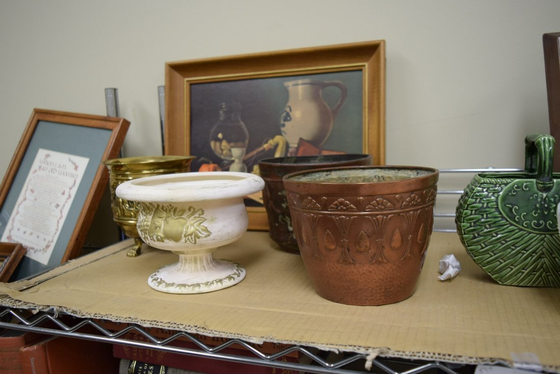VARIOUS ARTWORK AND POTTERY - 2