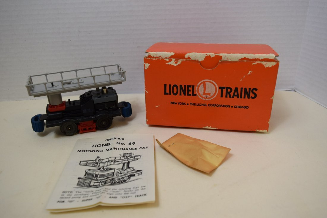 LIONEL MOTORIZED MAINTENANCE CAR
