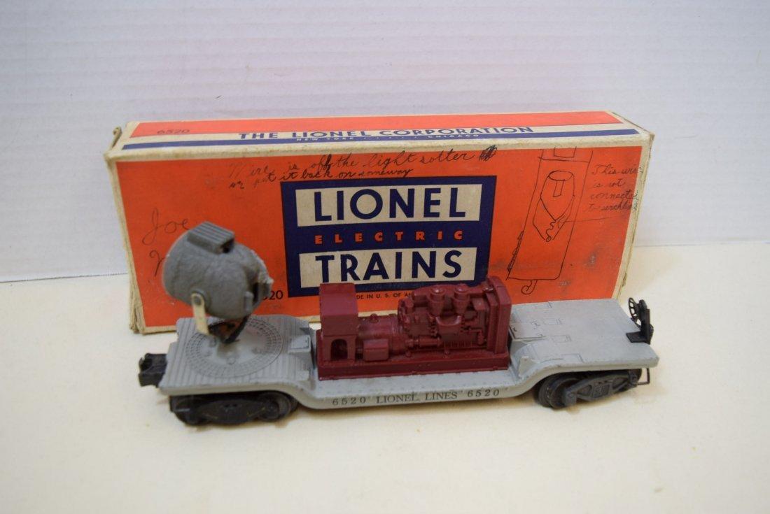 LIONEL SEARCHLIGHT CAR 6520
