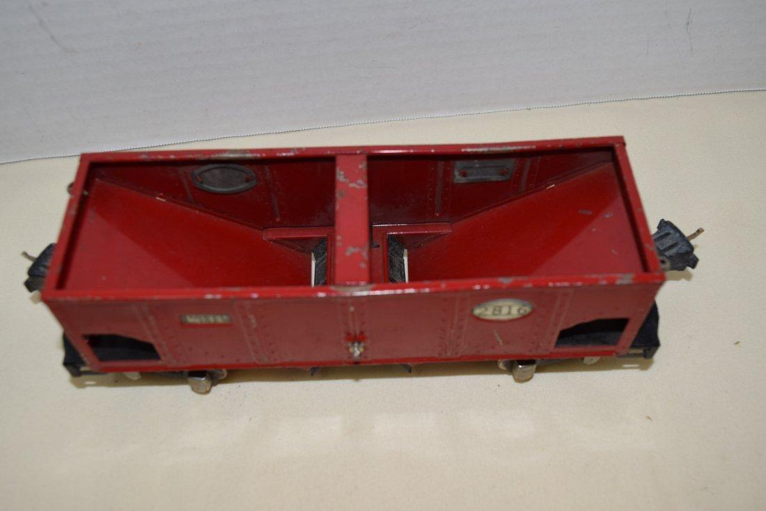 PREWAR LIONEL RED TINPLATE HOPPER - 2
