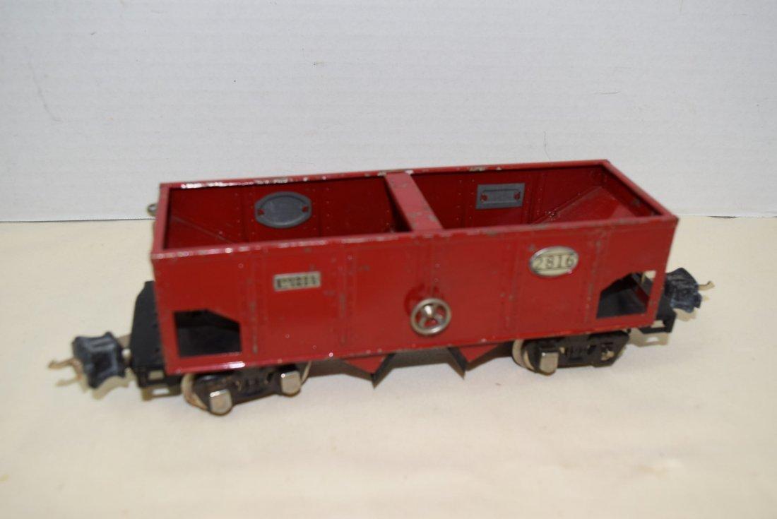 PREWAR LIONEL RED TINPLATE HOPPER - 3