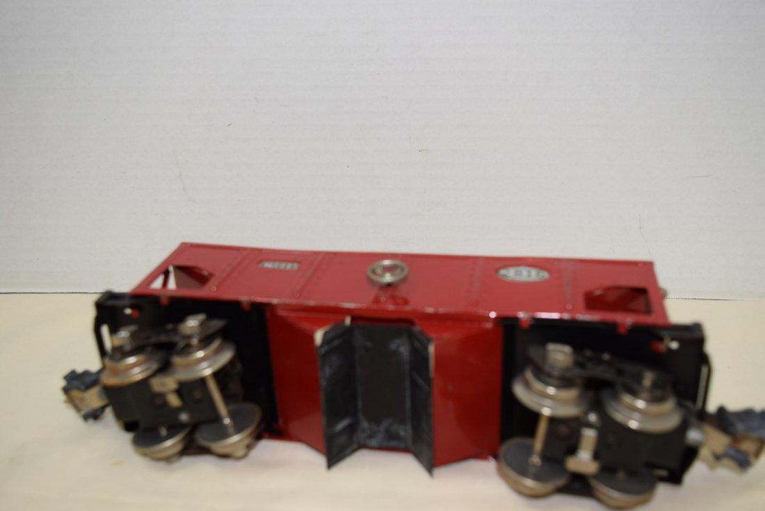 PREWAR LIONEL RED TINPLATE HOPPER - 4