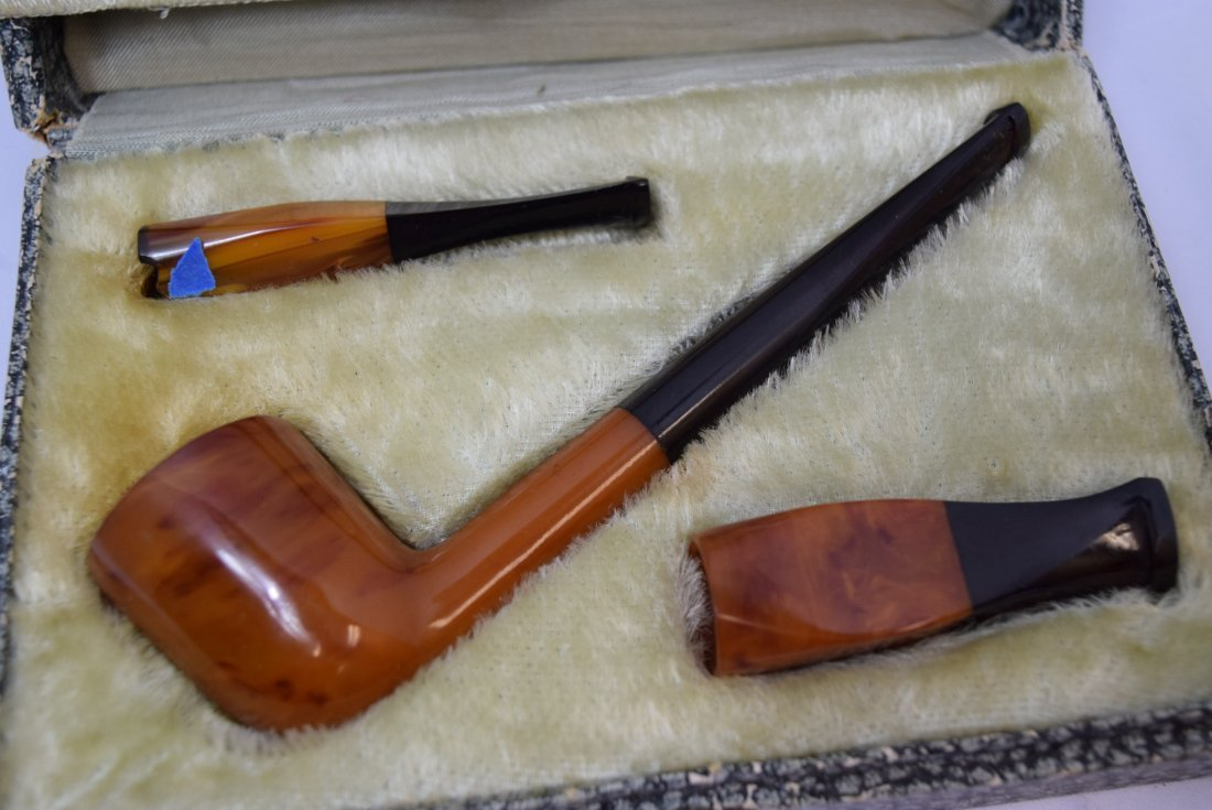 BRIAR BURL SMOKING PIPE IN ORIGINAL CASE - 2