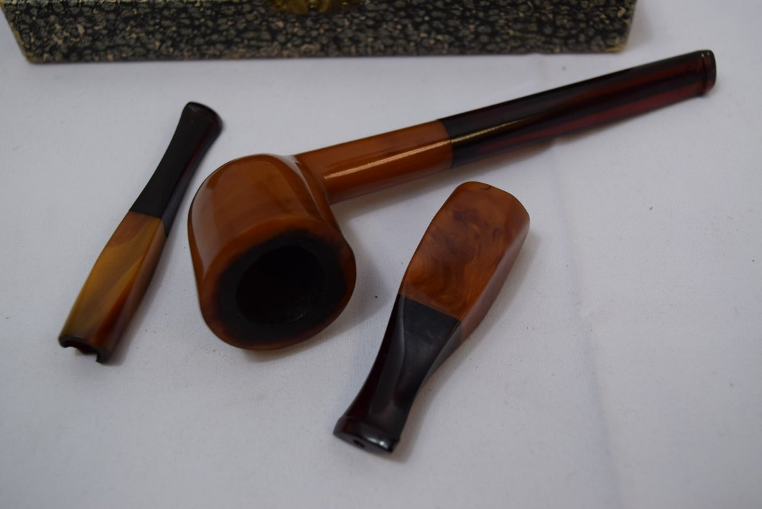 BRIAR BURL SMOKING PIPE IN ORIGINAL CASE - 4