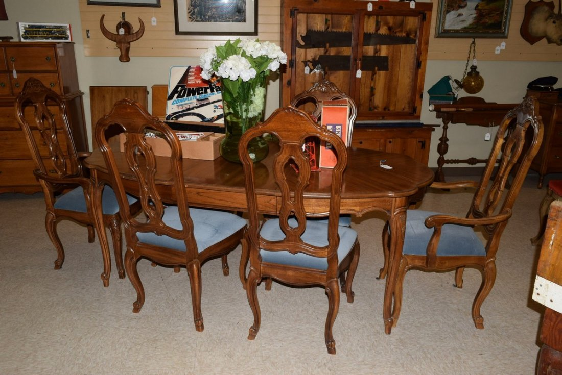 THOMASVILLE 6 CHAIR DINING ROOM SET