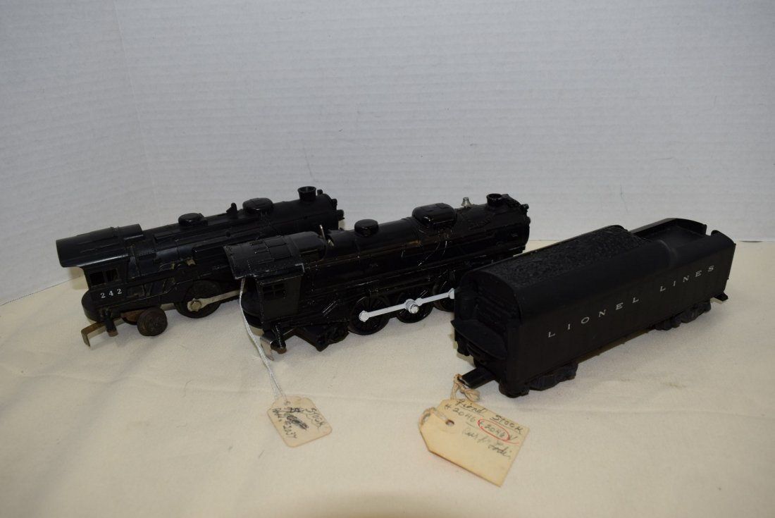 2 LIONEL LOCOMOTIVES AND ONE TENDER