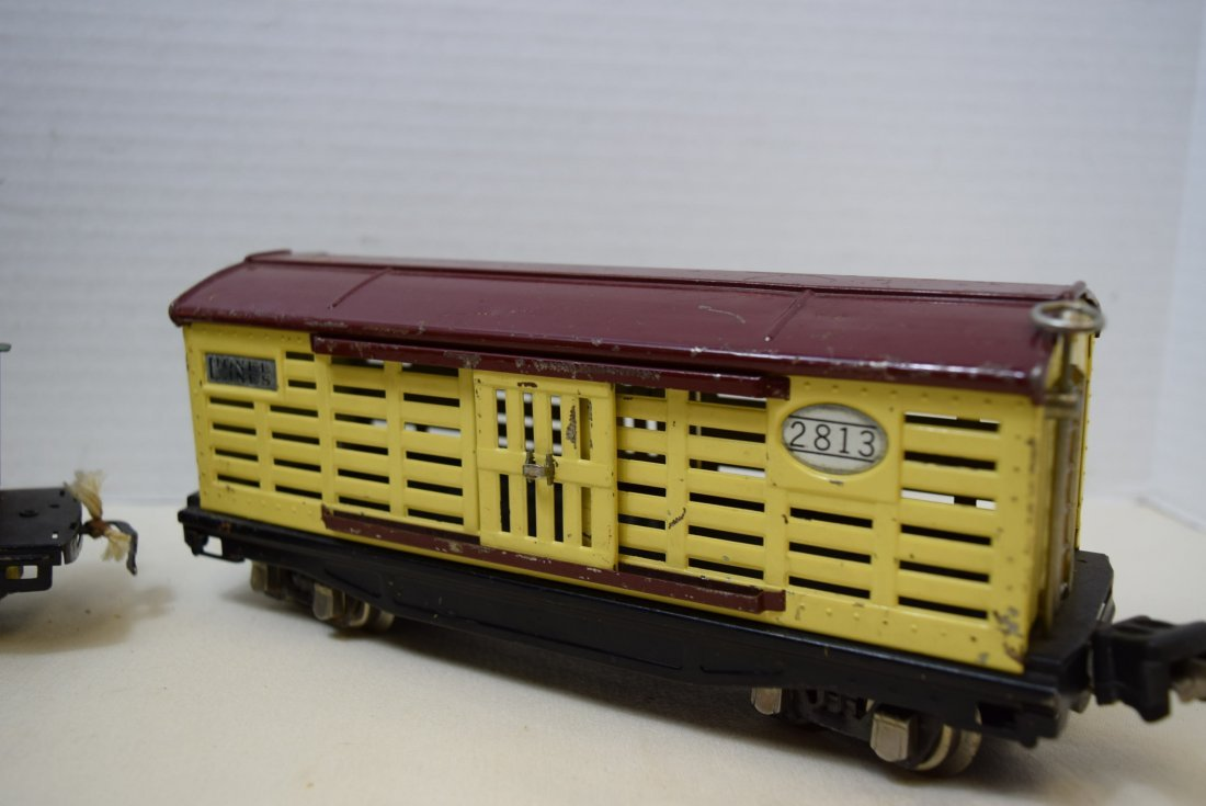 AMERICAN FLYER DUMP CAR AND LIONEL LINES CATTLE CA - 2
