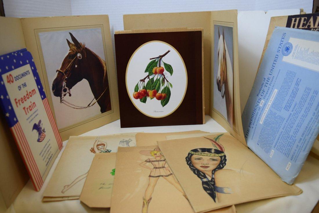 LOT OF VARIOUS ORIGINAL ART; BEAUTIES; HORSES AND