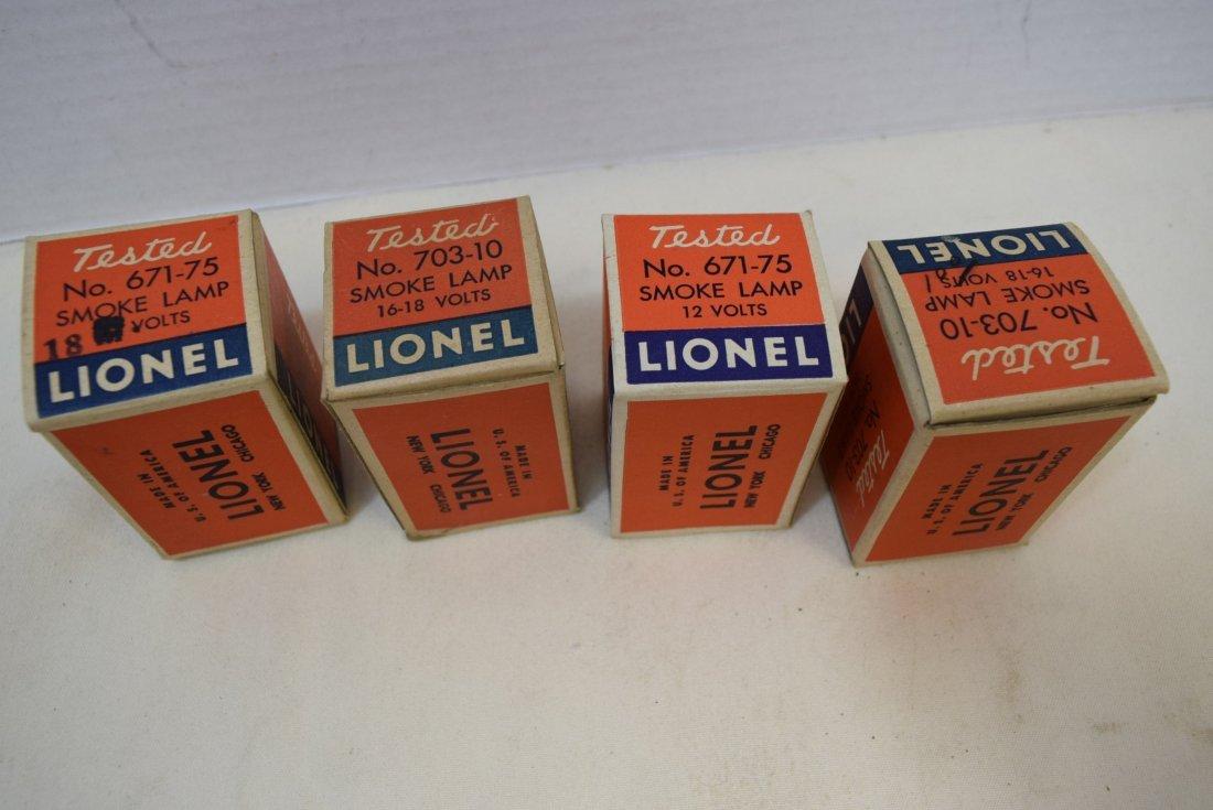 4 VINTAGE LIONEL SMOKE LAMPS