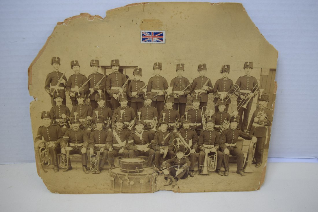 ANTIQUE PHOTO BRITISH MARCHING BAND