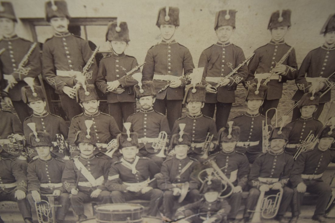 ANTIQUE PHOTO BRITISH MARCHING BAND - 2