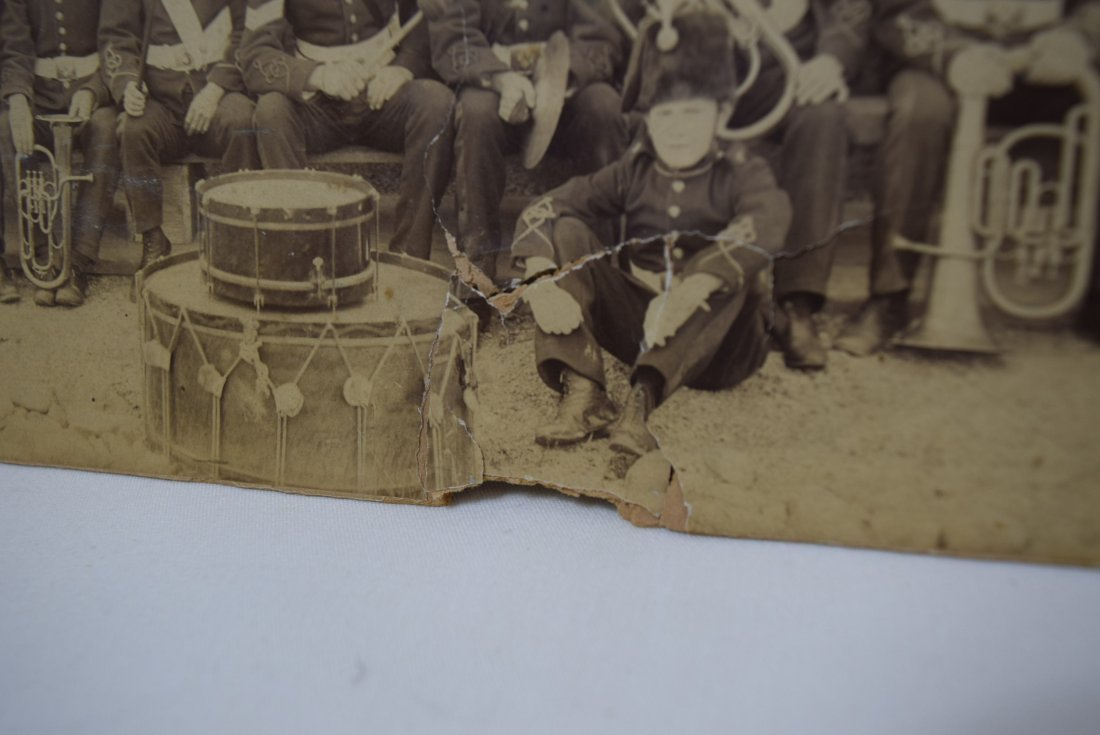 ANTIQUE PHOTO BRITISH MARCHING BAND - 3
