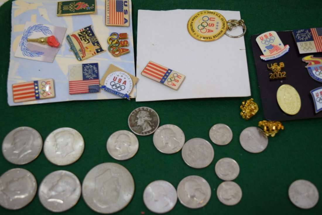 COINS AND OLYMPIC PINS