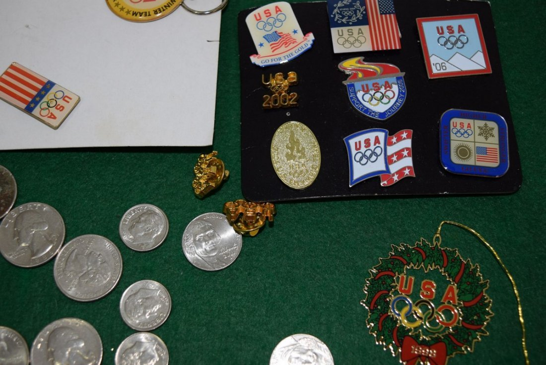 COINS AND OLYMPIC PINS - 2