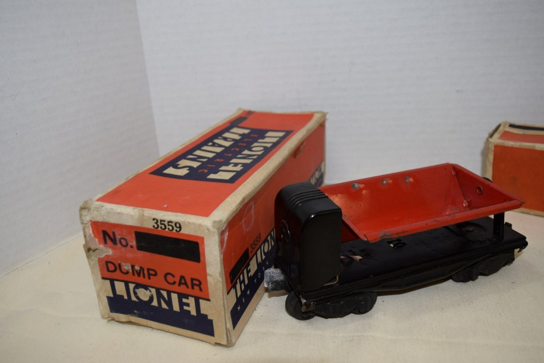 LIONEL TRAIN AUTOMATIC LUMBER CAR & OPERATING RED - 2