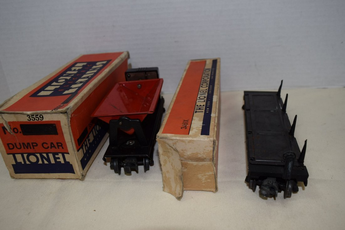 LIONEL TRAIN AUTOMATIC LUMBER CAR & OPERATING RED - 5