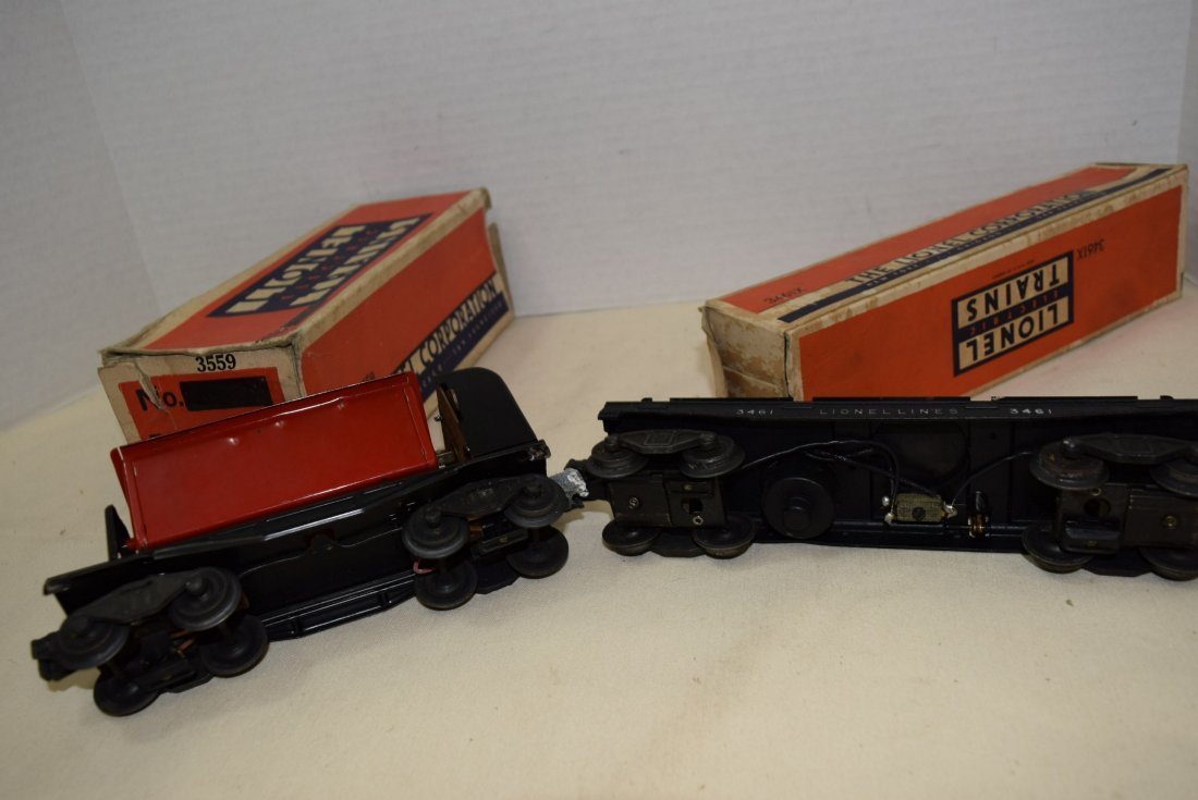 LIONEL TRAIN AUTOMATIC LUMBER CAR & OPERATING RED - 6