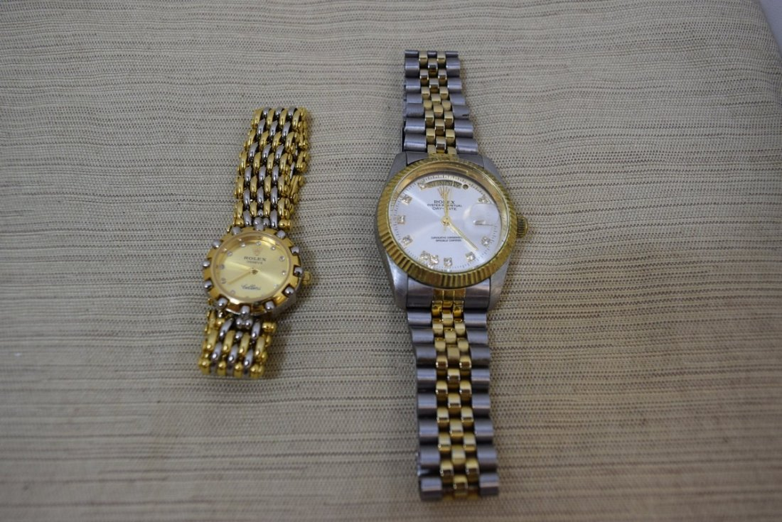 2 FAUX ROLEX WATCHES