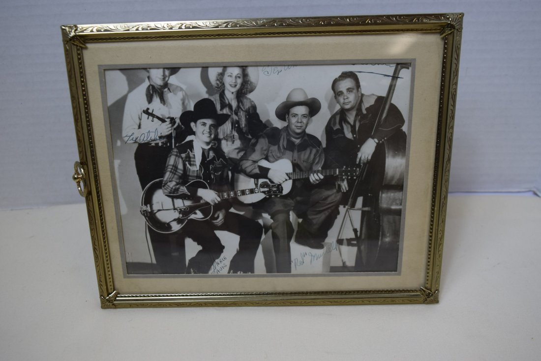 RARE OLD COUNTRY MUSIC STAR PHOTO WITH AUTOGRAPHS