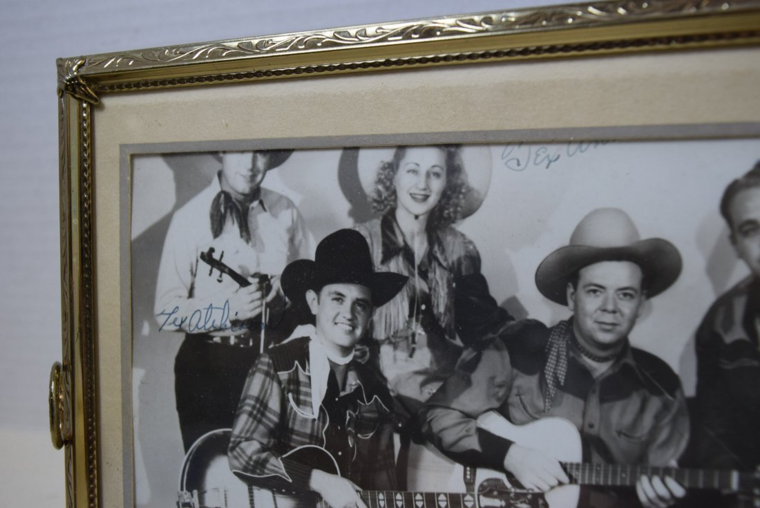 RARE OLD COUNTRY MUSIC STAR PHOTO WITH AUTOGRAPHS - 2