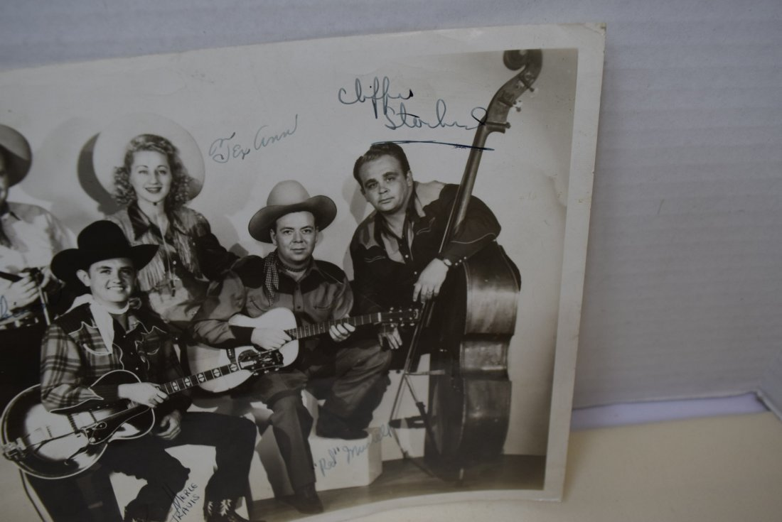 RARE OLD COUNTRY MUSIC STAR PHOTO WITH AUTOGRAPHS - 4