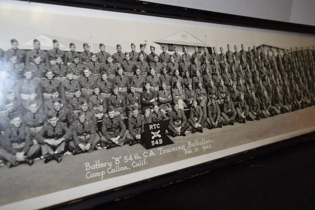 OLD HISTORIC FRAMED PHOTO OF BATTERY B 54TH TRAINI - 3