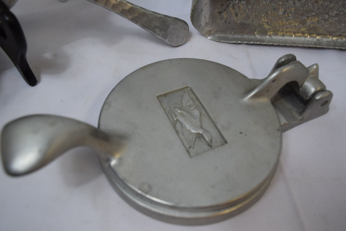 ALUMINUM POT; TRAY AND CAN CRUSHER - 5