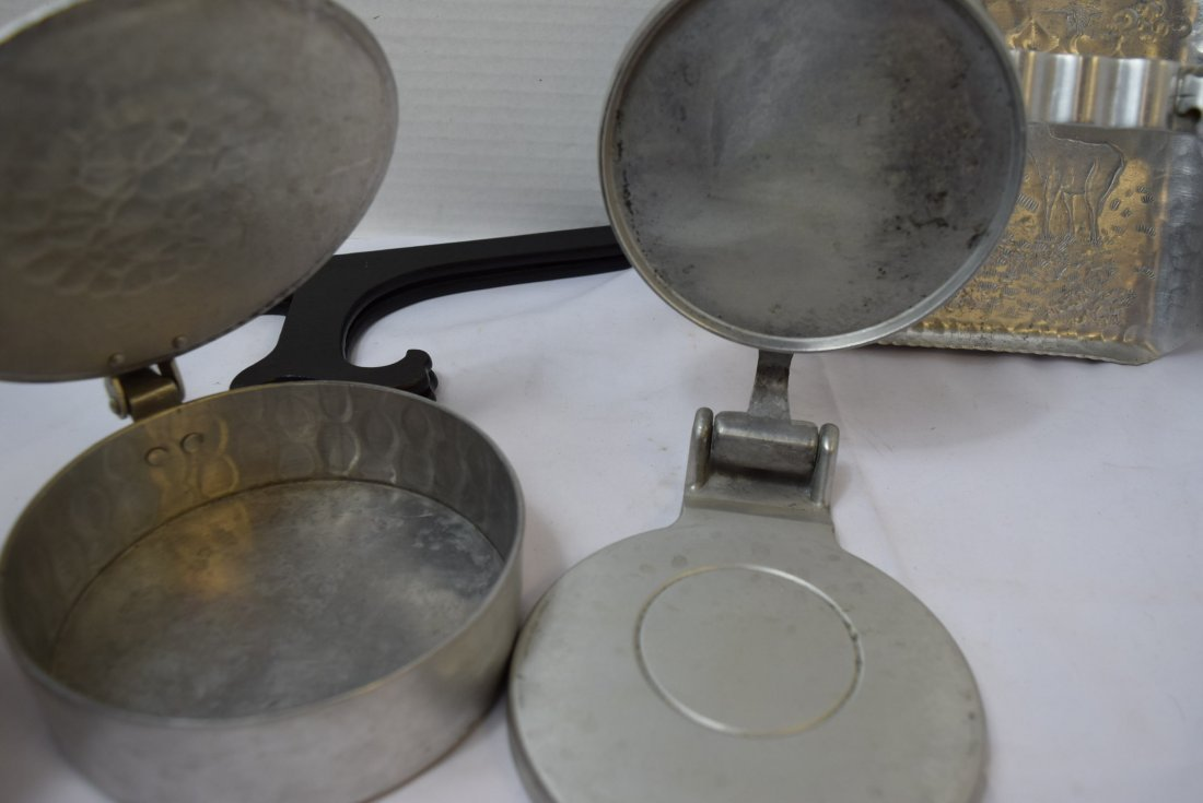ALUMINUM POT; TRAY AND CAN CRUSHER - 6