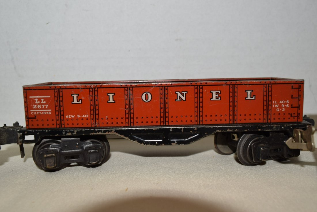 LIONEL PREWAR TINPLATE ROLLING CARS - 3