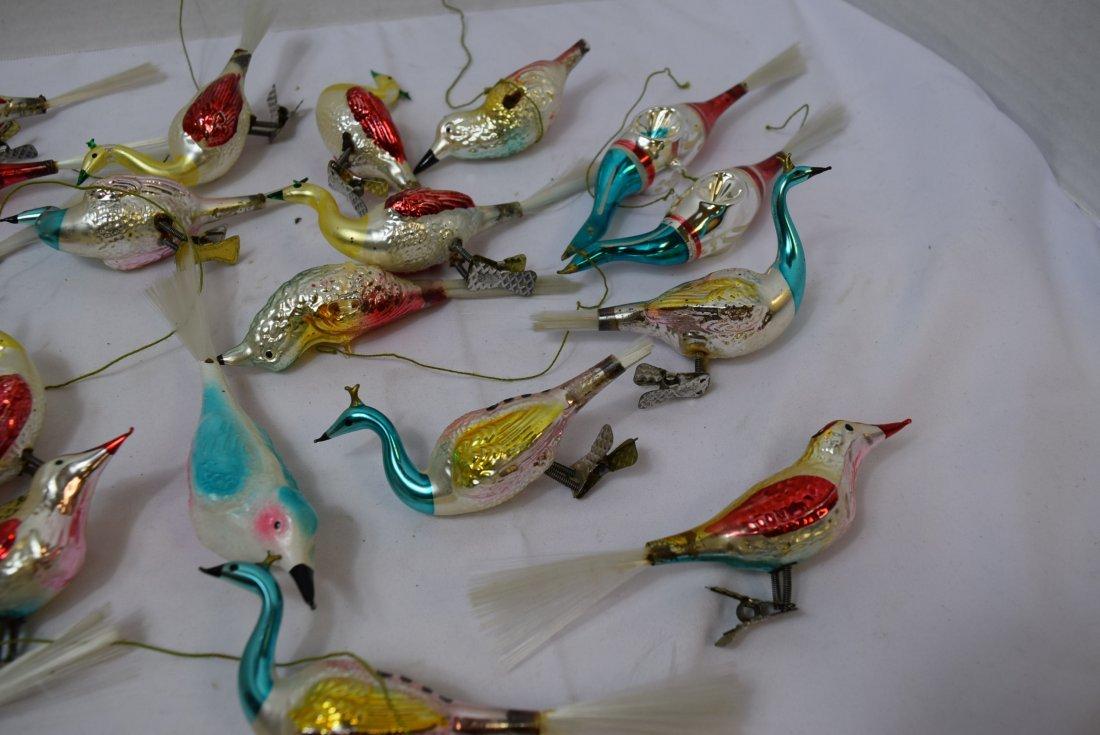 VINTAGE  BIRD ORNAMENTS - 2