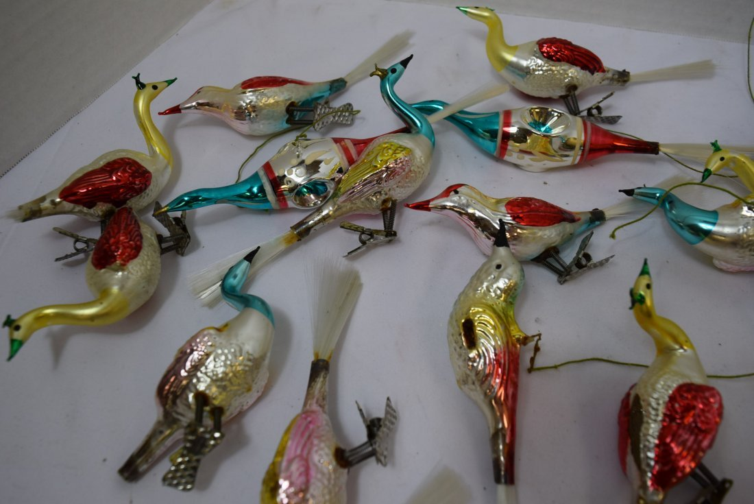 VINTAGE  BIRD ORNAMENTS - 5