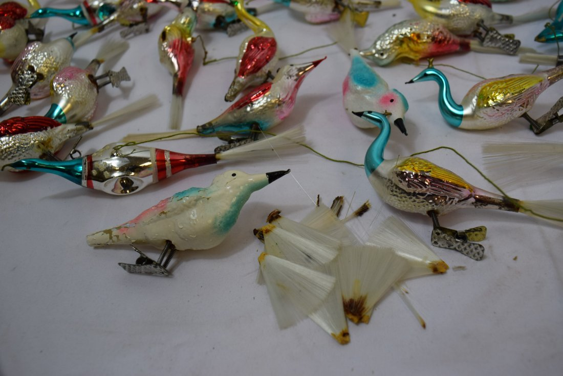 VINTAGE  BIRD ORNAMENTS - 7