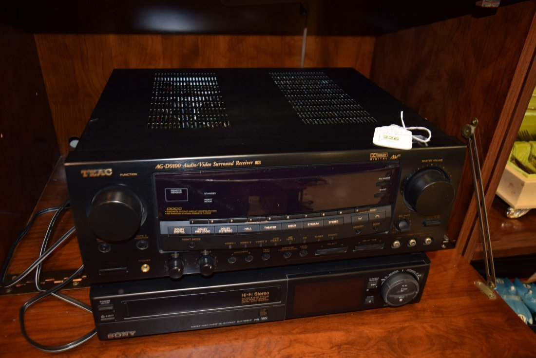 TEAC STEREO RECEIVER AND SONY VCR