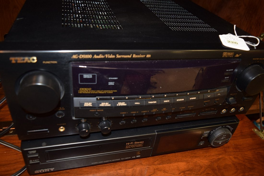 TEAC STEREO RECEIVER AND SONY VCR - 2