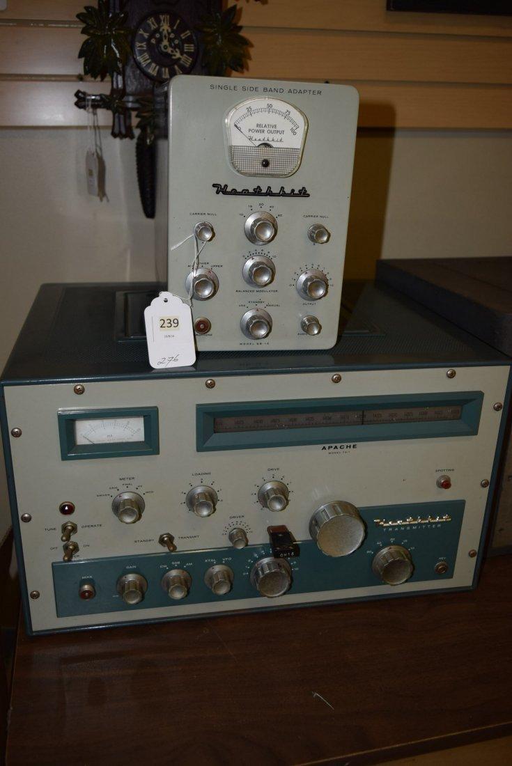 HEATHKIT APACHE TX-1 HAM RADIO WITH SIDE BAND ADAP