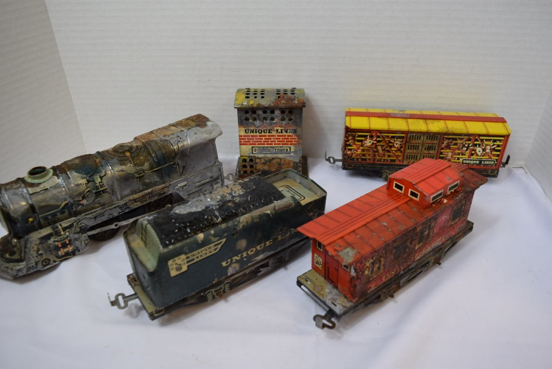 UNIQUE ART CIRCUS TRAIN SET IN ORIGINAL BOX - 4